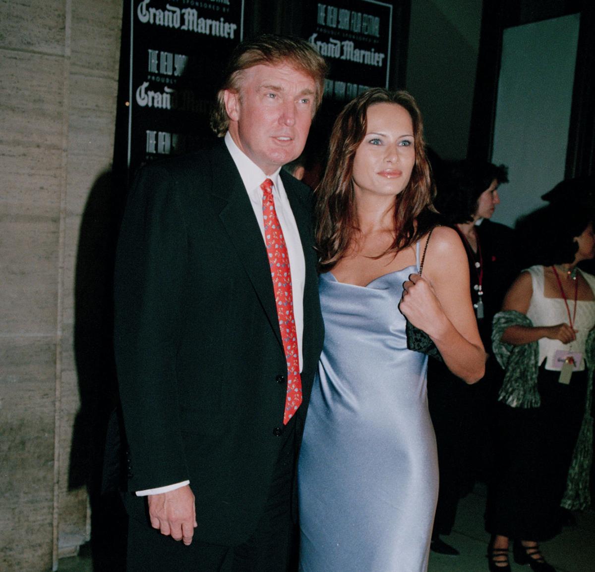 Мелания и Дональд Трамп 1998год