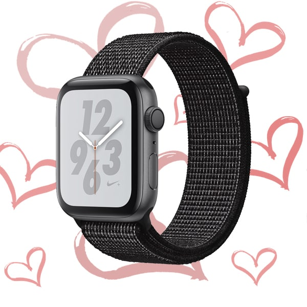 Apple Watch Nike+ Series 4 GPS 44mm Space Gray Aluminium Case with Black Nike Sport Loop